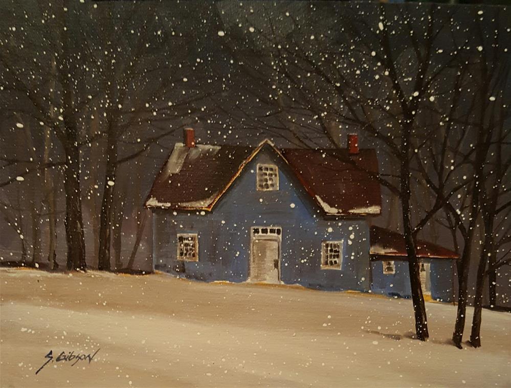"""Lenoards Hinges Farm House"" original fine art by Steve Gibson"