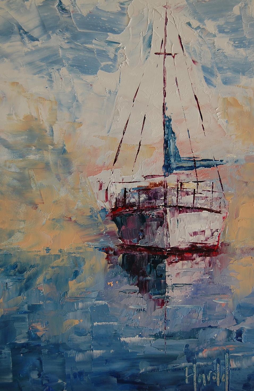 """Sailor's Delight"" original fine art by Deborah Harold"