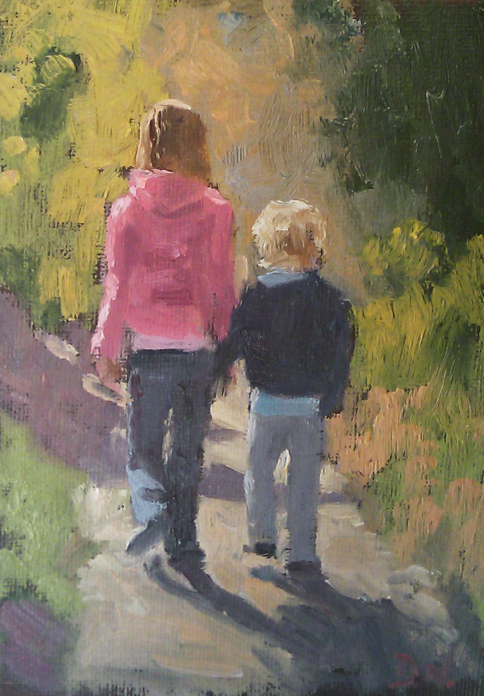 """Hiking"" original fine art by Deborah Newman"