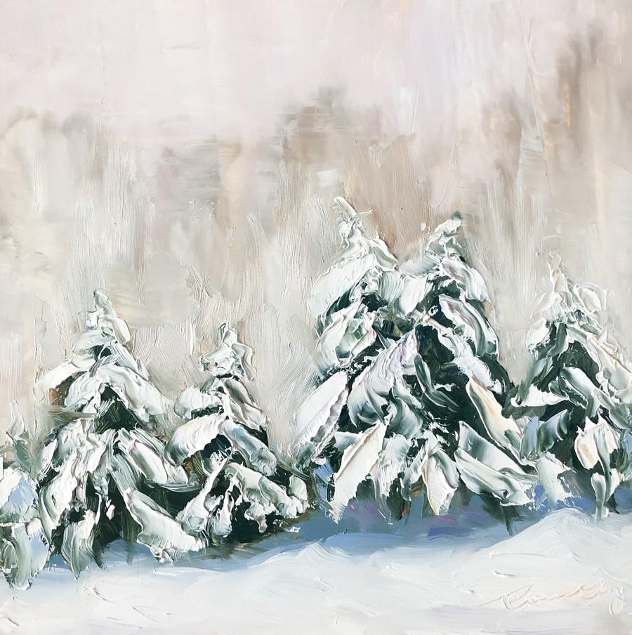 """#255 - Still Snowing - Stowe, VT"" original fine art by Sara Gray"