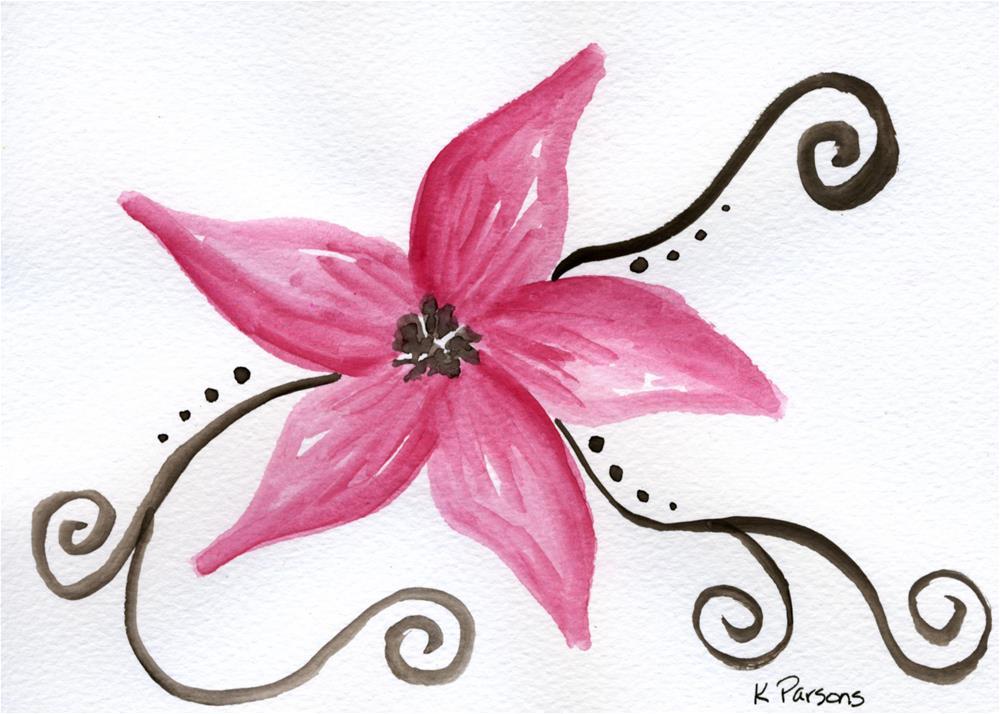 """""""Pink with Swirls"""" original fine art by Kali Parsons"""