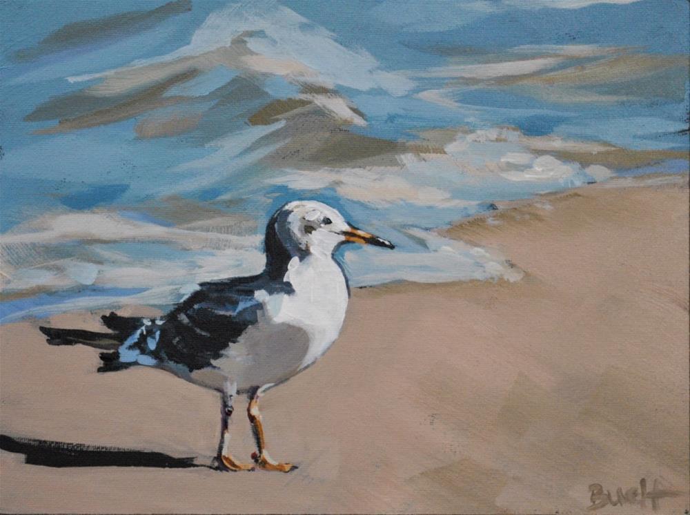 """""""Shore Bird"""" original fine art by Shari Buelt"""