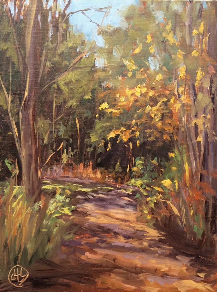 """""""a walk in the park"""" original fine art by Dottie  T  Leatherwood"""