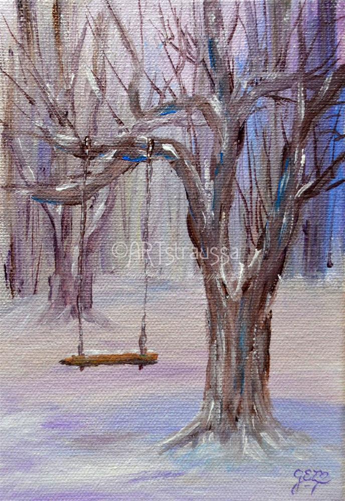 """""""Frosty Swing"""" original fine art by Gloria Ester"""
