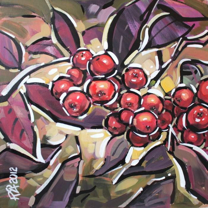 """Rowan Berries 3"" original fine art by Roger Akesson"
