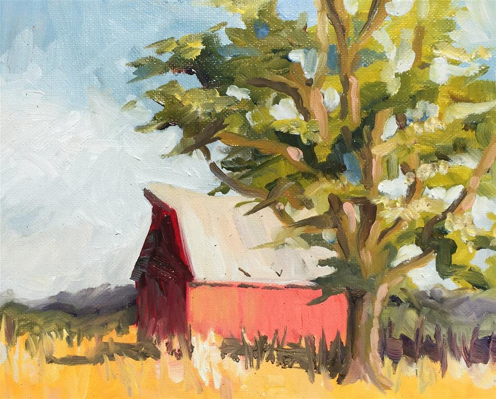 """""""Olsen Barn"""" original fine art by Sally Posner"""
