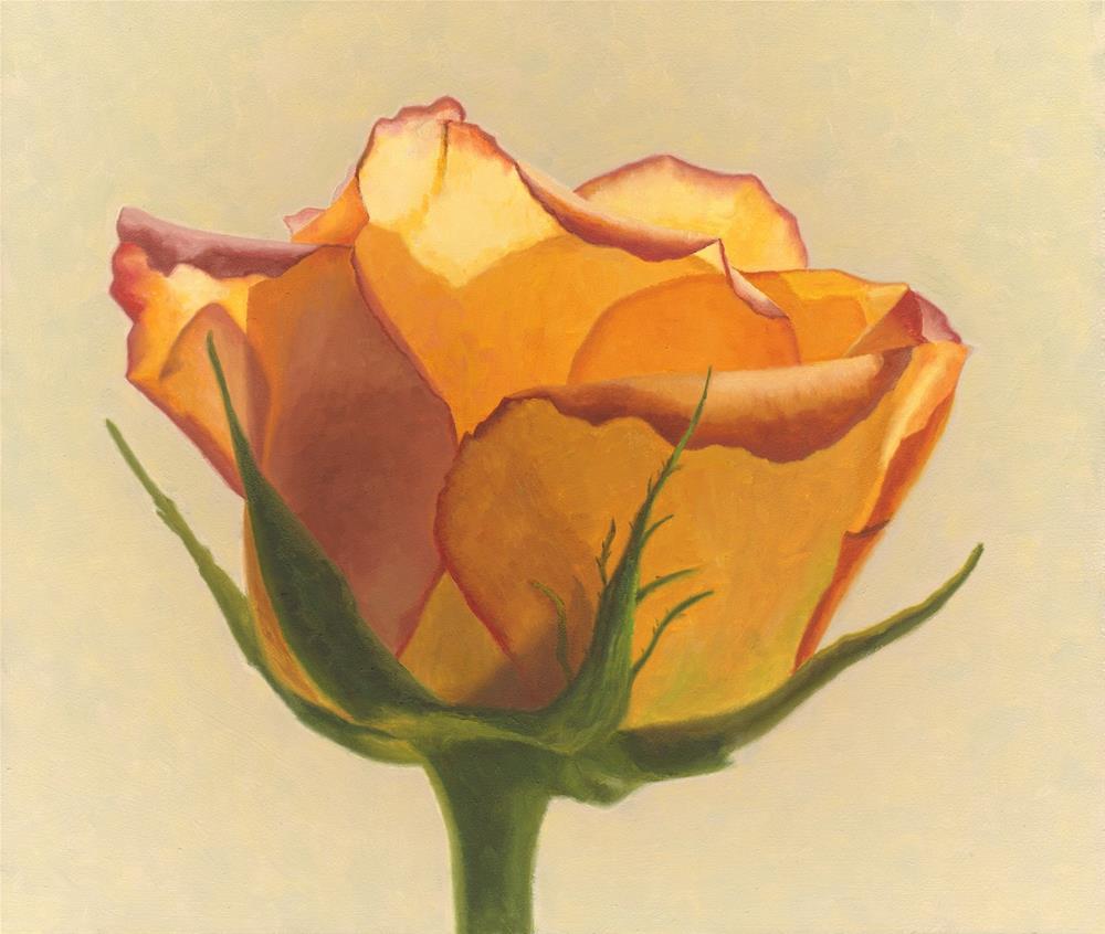 """Yellow Rose"" original fine art by Susan Fern"