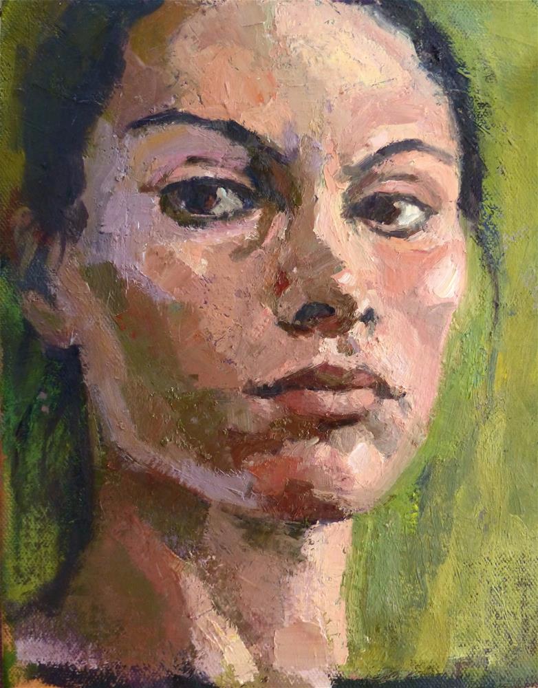 """Self-portrait#5"" original fine art by Katya Minkina"