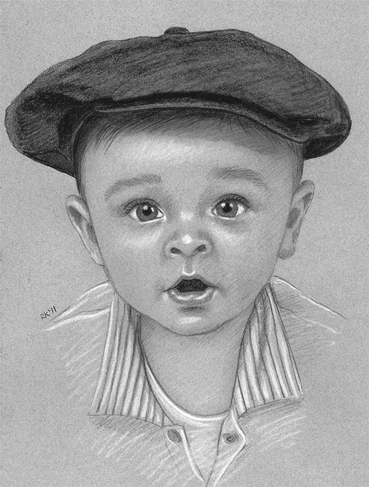 """""""A pencil portrait commission"""" original fine art by Rita Kirkman"""