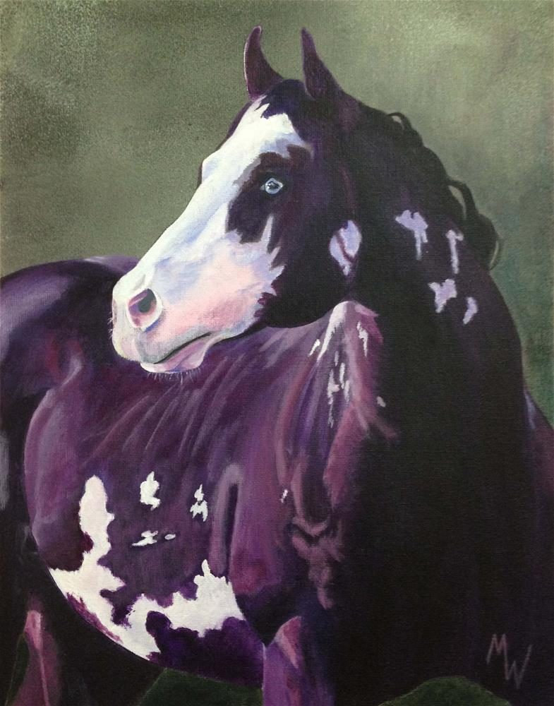 """Stallion Paint"" original fine art by Michelle Wolfe"