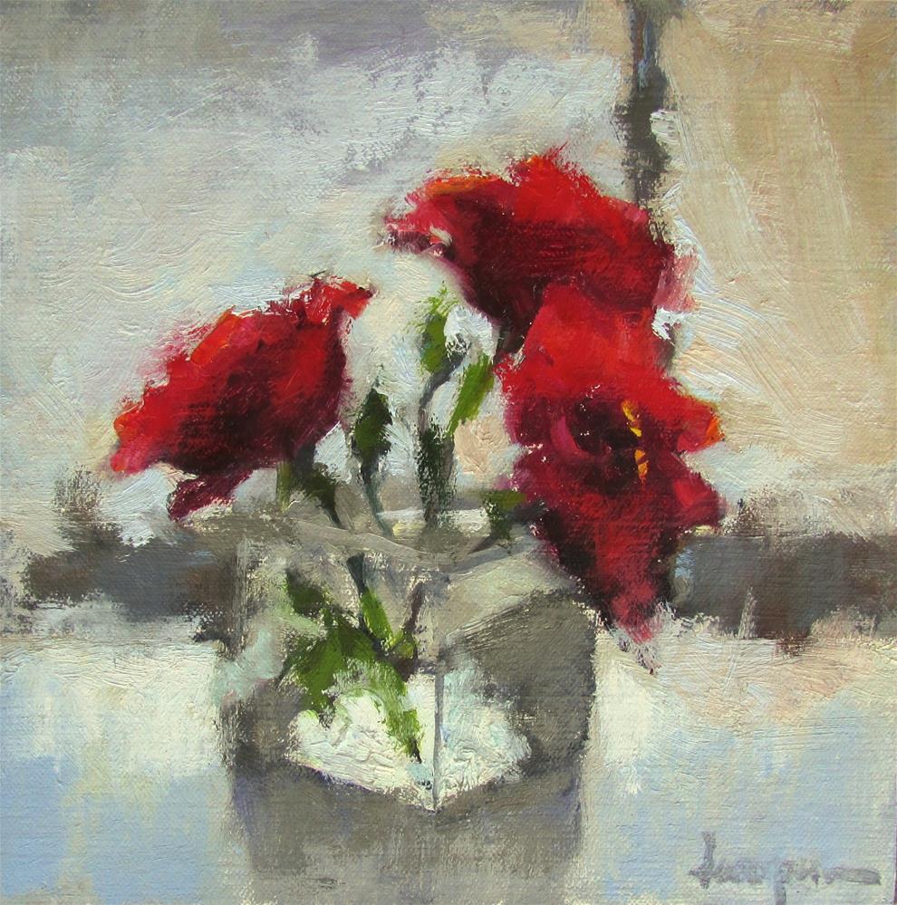 """Roses Are Red"" original fine art by Dana Cooper"