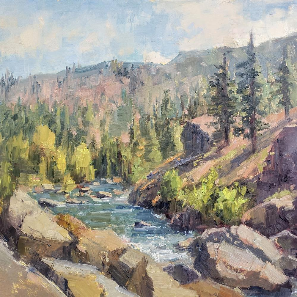 """""""Icicle Creek View"""" original fine art by Barbie Smith"""