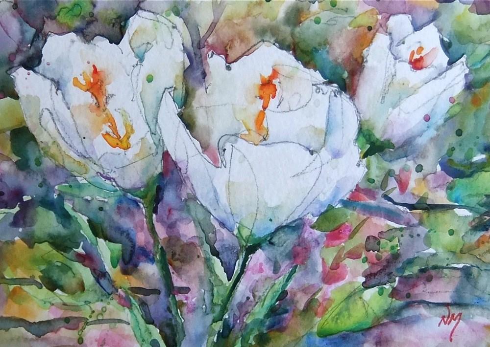 """let the gardens begin"" original fine art by Nora MacPhail"