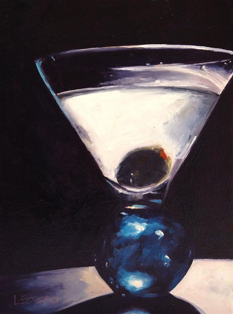 """Midnight Martini"" original fine art by Lisa Sotero"