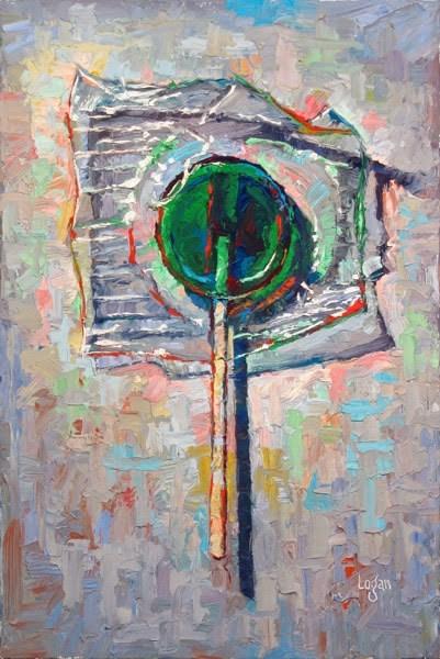 """Lollipop Lime"" original fine art by Raymond Logan"