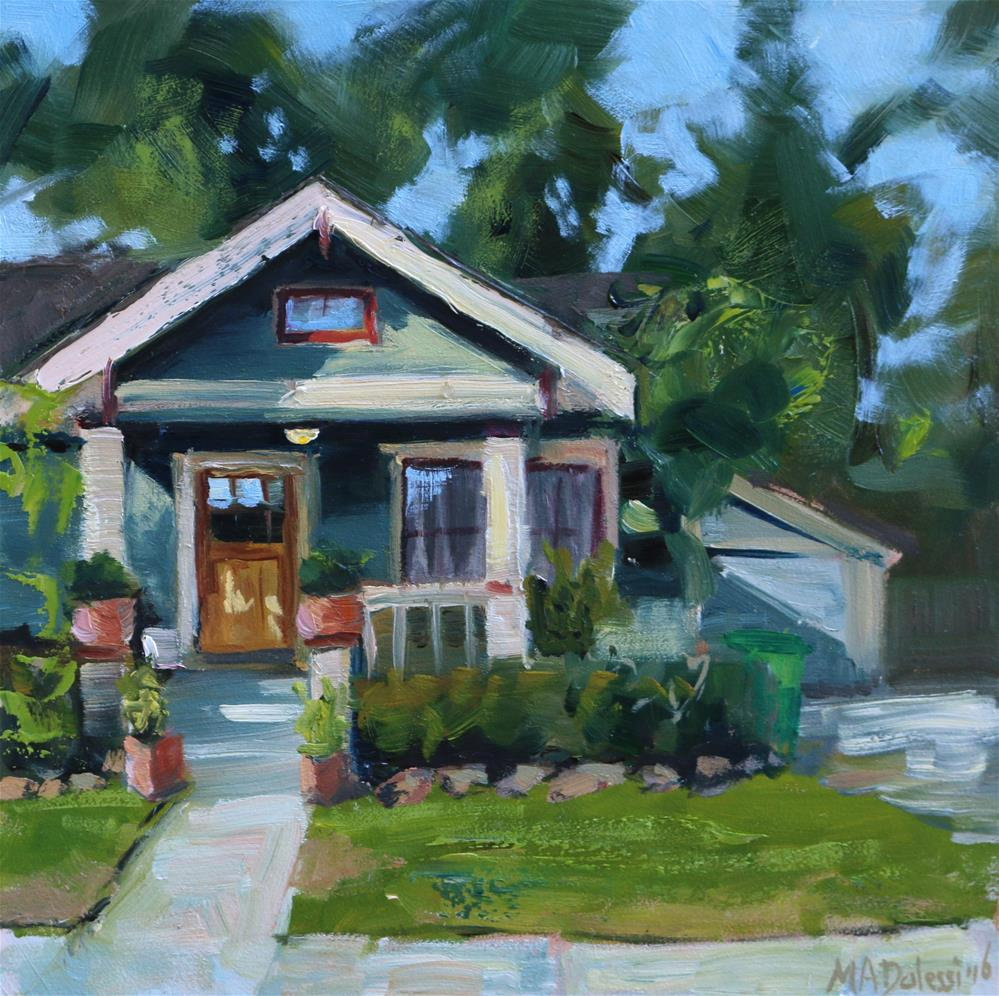 """""""Texas house in the Heights"""" original fine art by Miranda Dalessi"""