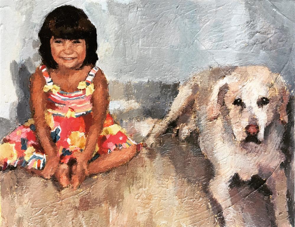 """Malini and Tanto"" original fine art by Nava Judith"