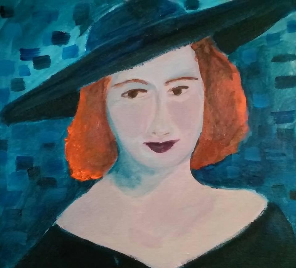 """""""Faye"""" original fine art by Hallie Dozier"""