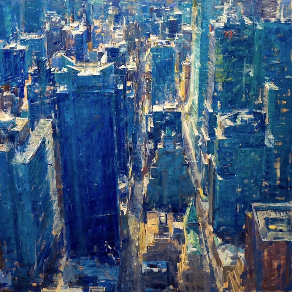 """New York"" original fine art by Derek Penix"