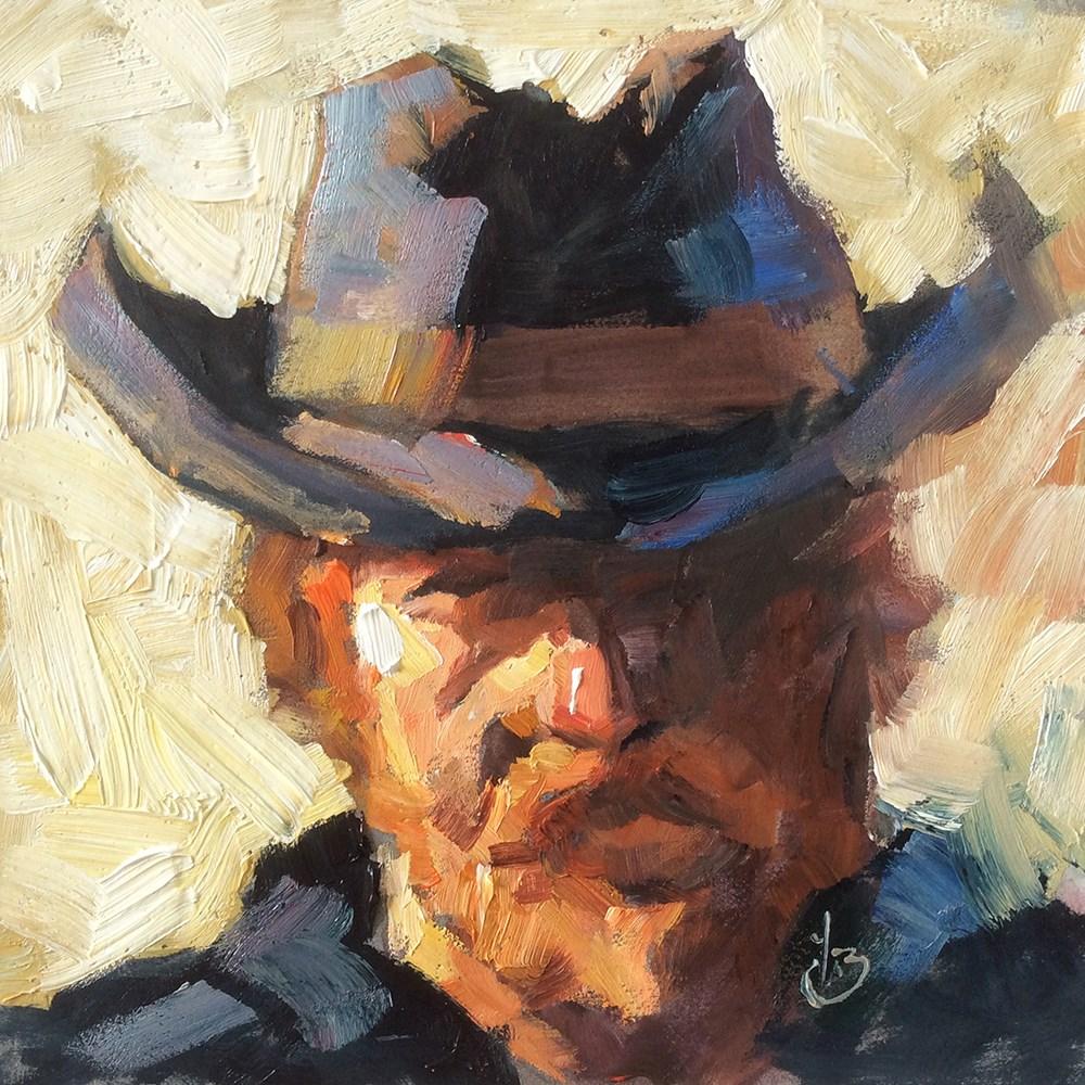 """""""LOOK ME IN THE EYE"""" original fine art by Tom Brown"""