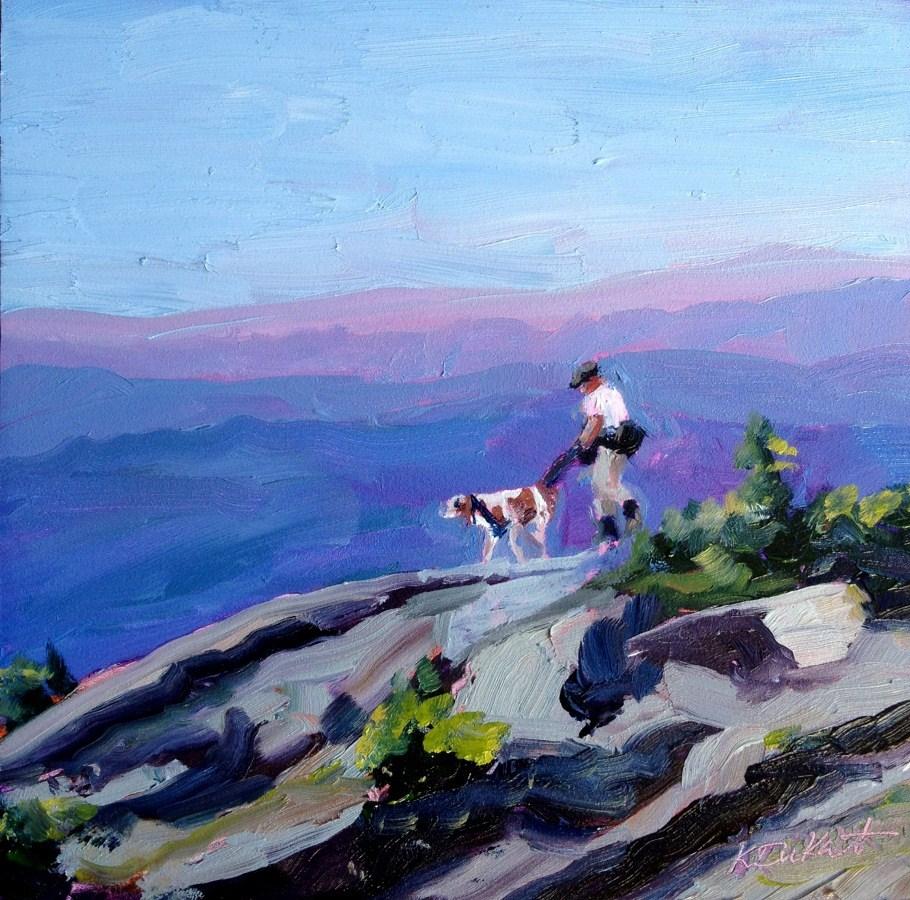 """Mountain Hike"" original fine art by Kristen Dukat"