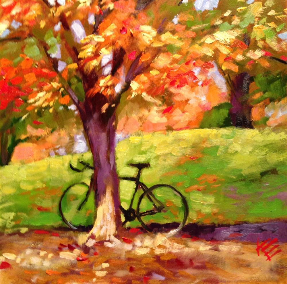 """The Bike"" original fine art by Krista Eaton"