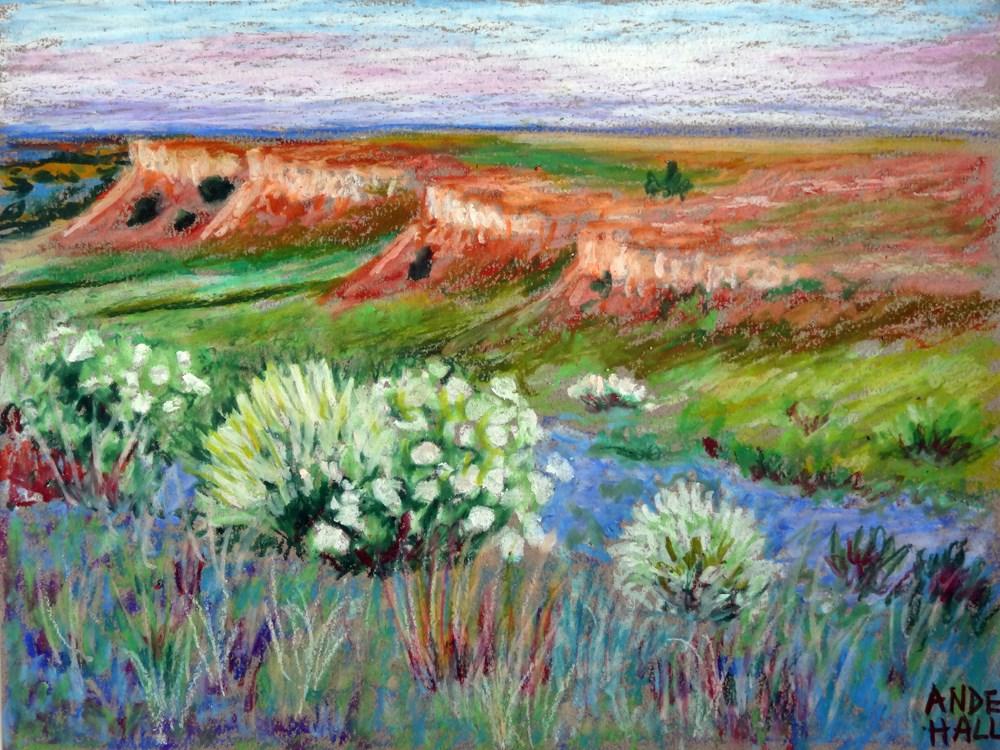 """Red Hills of Kansas"" original fine art by Ande Hall"