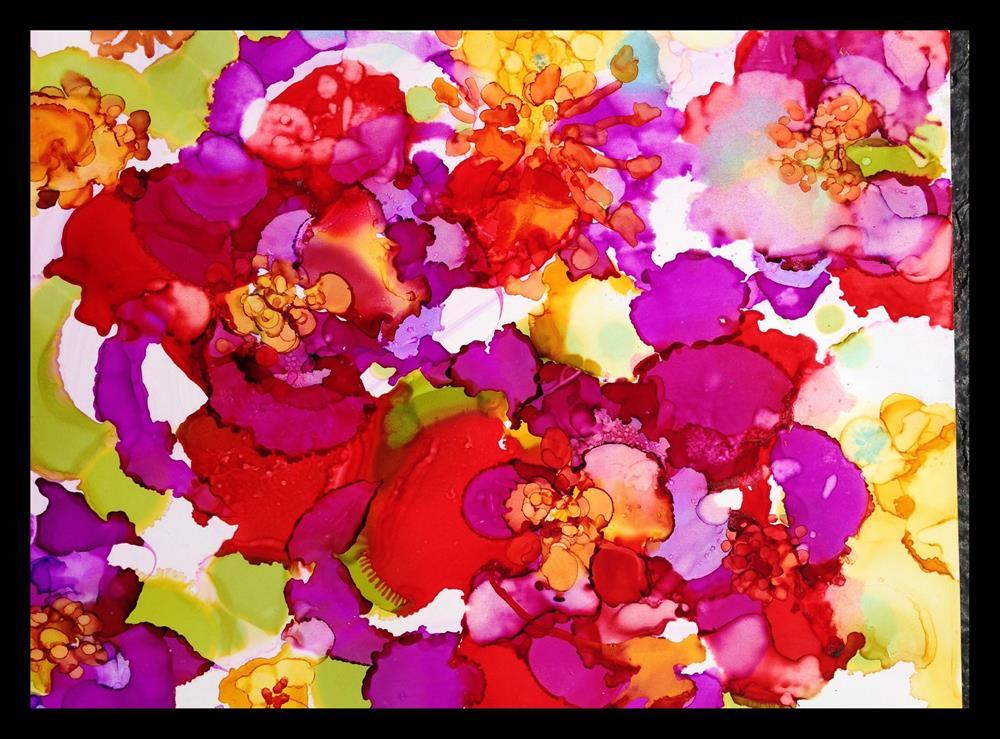 """""""Flower Power"""" original fine art by Kelly Alge"""