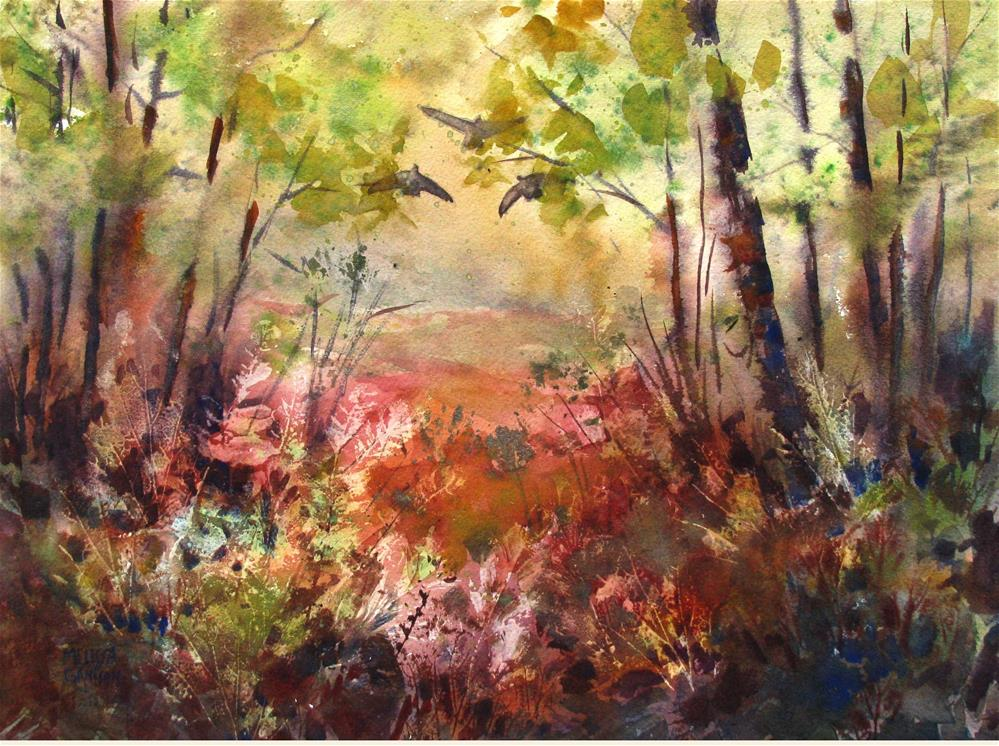 """Forest View"" original fine art by Melissa Gannon"