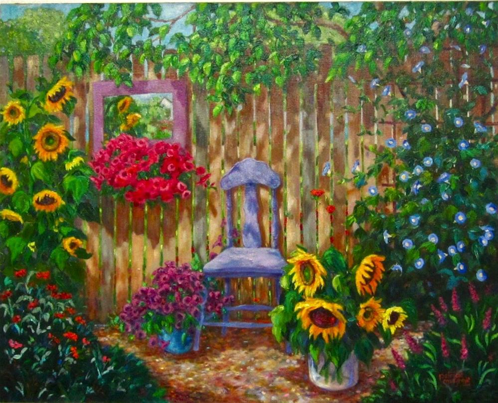 """""""By the Back Fence"""" original fine art by Patricia Musgrave"""