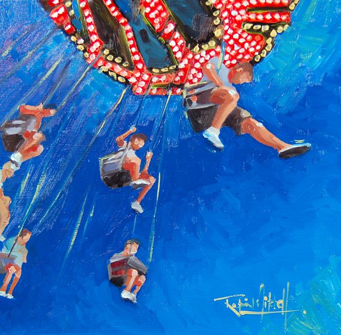 """""""The Last Week"""" original fine art by Robin J Mitchell"""