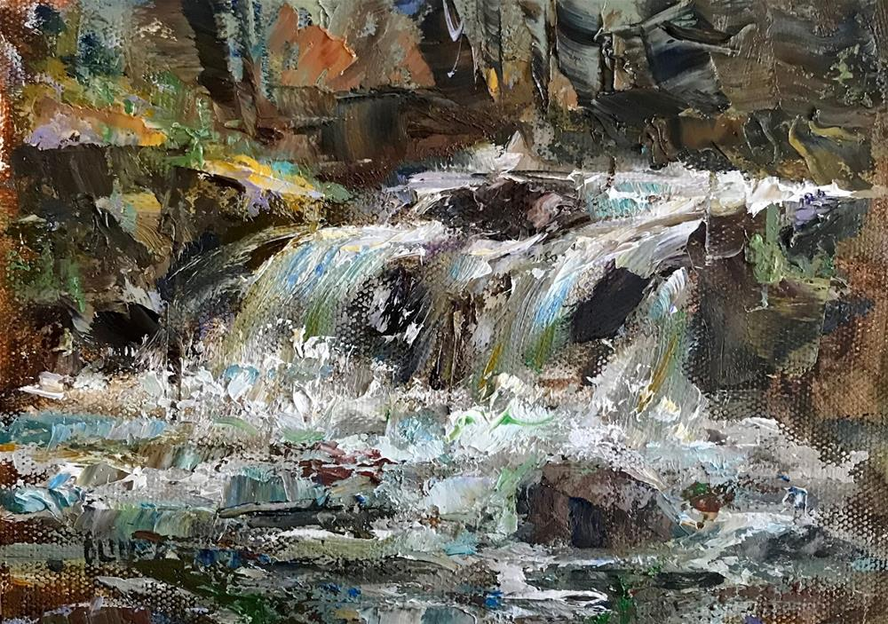"""""""Rushing Water"""" original fine art by Julie Ford Oliver"""