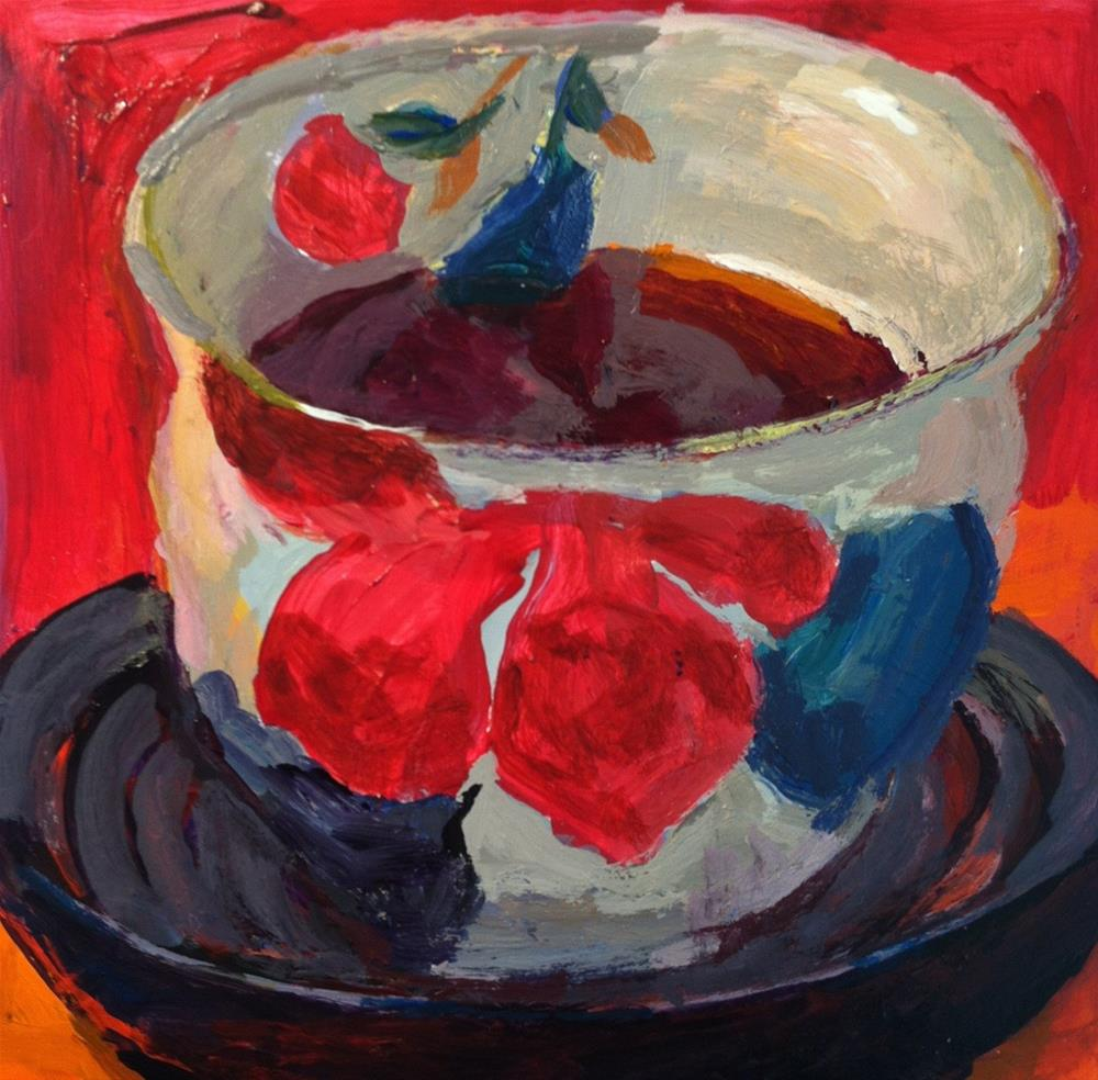 """Japanese Teacup"" original fine art by Christine Parker"