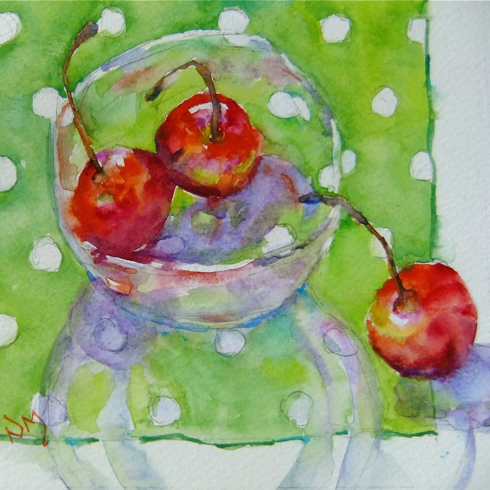 """""""bowled over"""" original fine art by Nora MacPhail"""