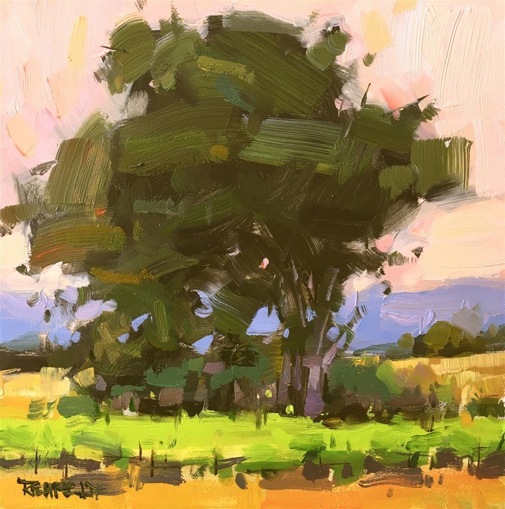 """""""Asymmetrical Oak Tree"""" original fine art by Cathleen Rehfeld"""