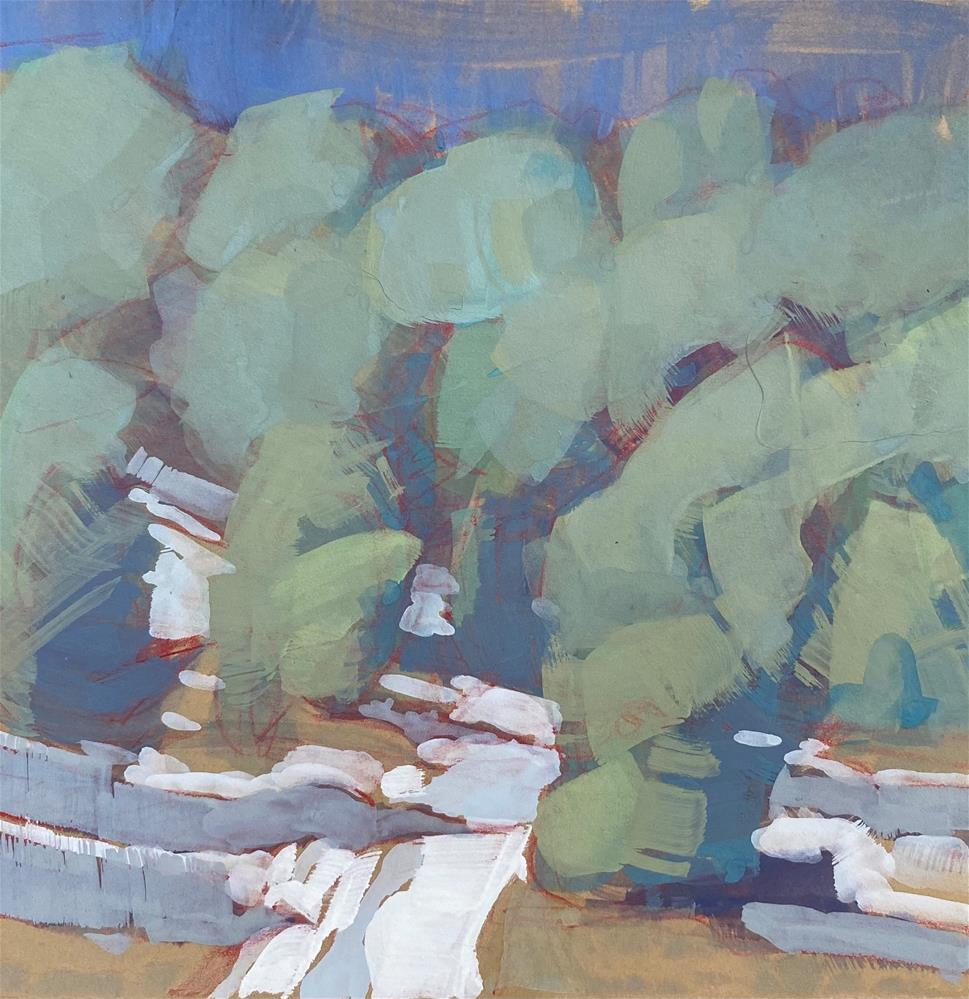 """Snow Road"" original fine art by Patti Vincent"