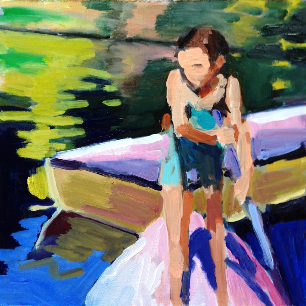 """Messing About in Boats II"" original fine art by Pamela Hoffmeister"