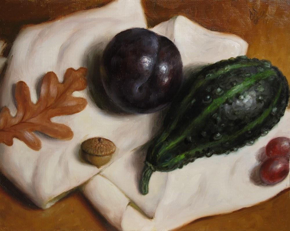 """Black Plum in October"" original fine art by Debra Becks Cooper"