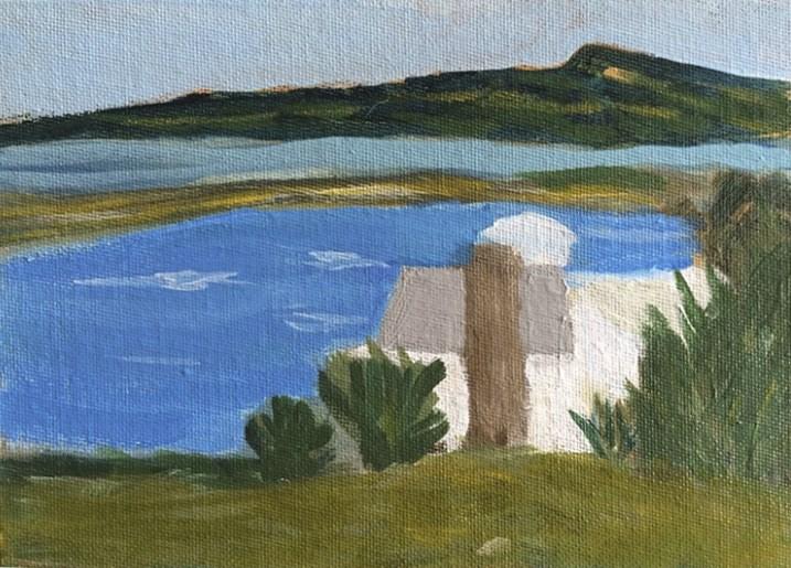 """""""Nashawena Island from Cuttyhunk"""" original fine art by Susan Medyn"""