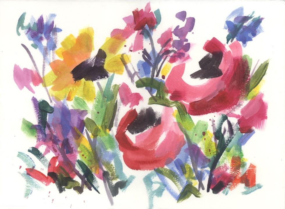 """""""Wildflower Wild"""" original fine art by Pamela Gatens"""
