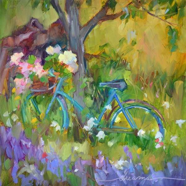 """""""The Color of Joy in France"""" original fine art by Dreama Tolle Perry"""