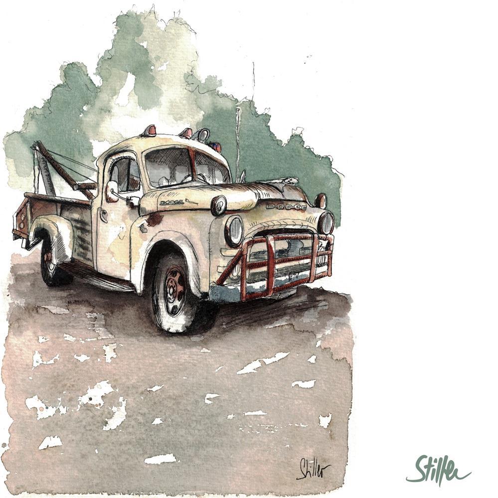 """""""3578 Dodge RAM"""" original fine art by Dietmar Stiller"""