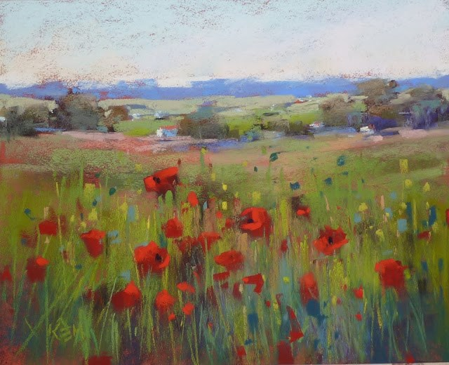 """Favorite Painting of 2016: Poppies!"" original fine art by Karen Margulis"