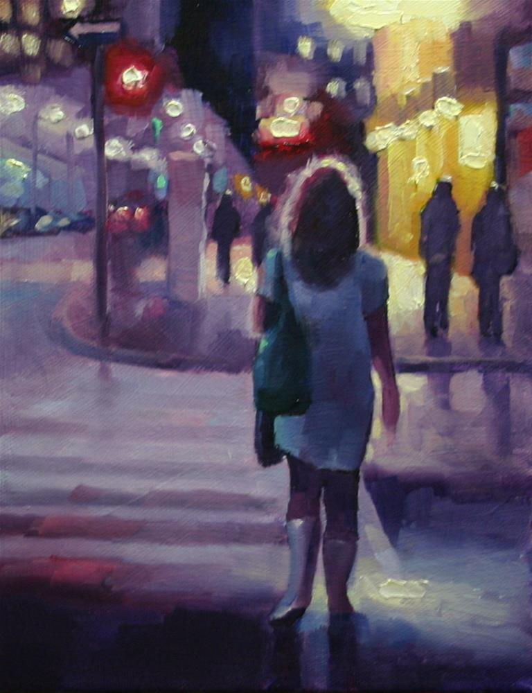 """""""I Dreamed in Pink and Purple, King Street, Toronto"""" original fine art by Catherine Jeffrey"""