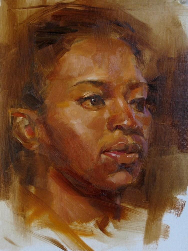 """Head Study 052312"" original fine art by Qiang Huang"