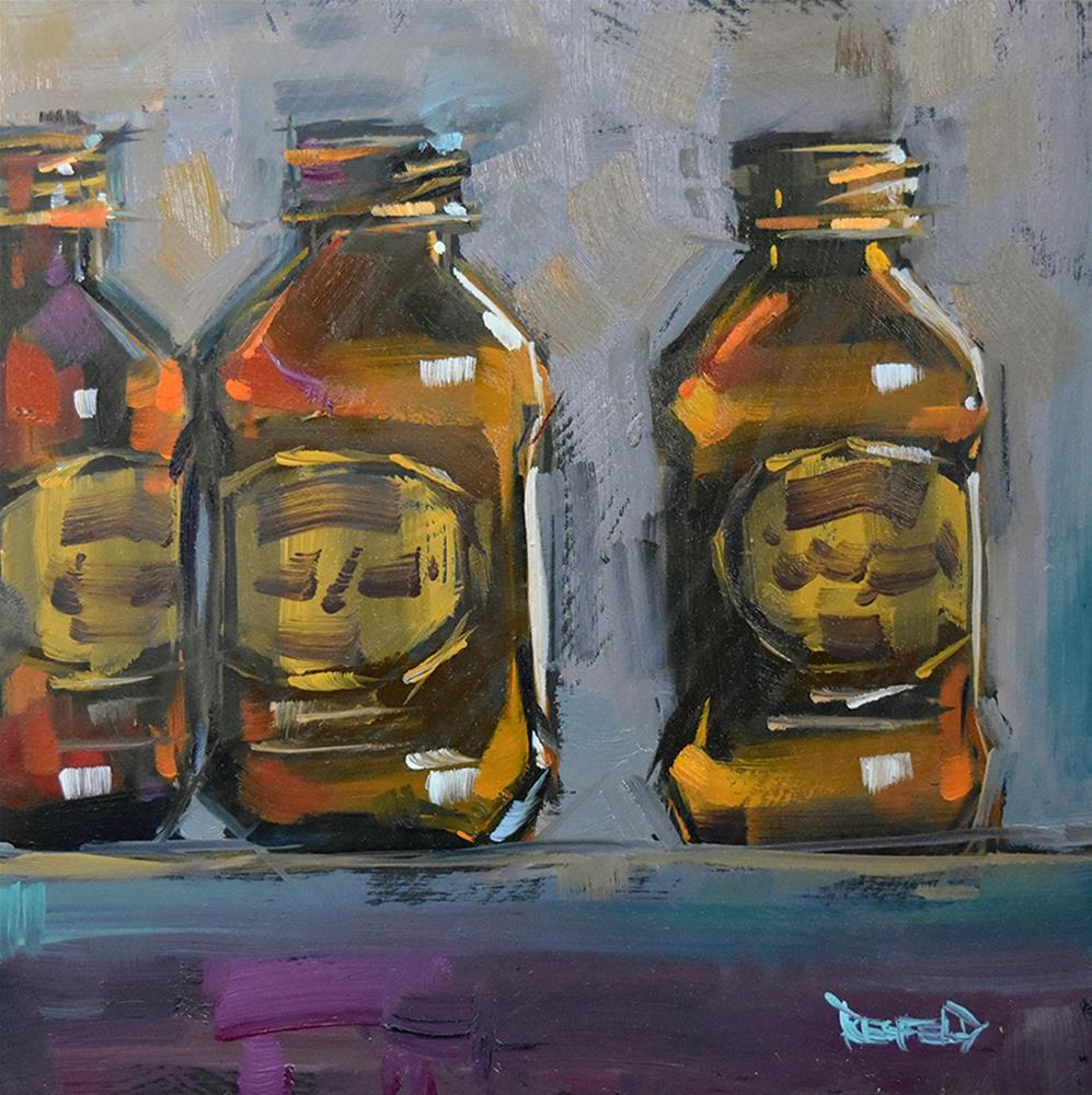 """Stumptown Glow"" original fine art by Cathleen Rehfeld"