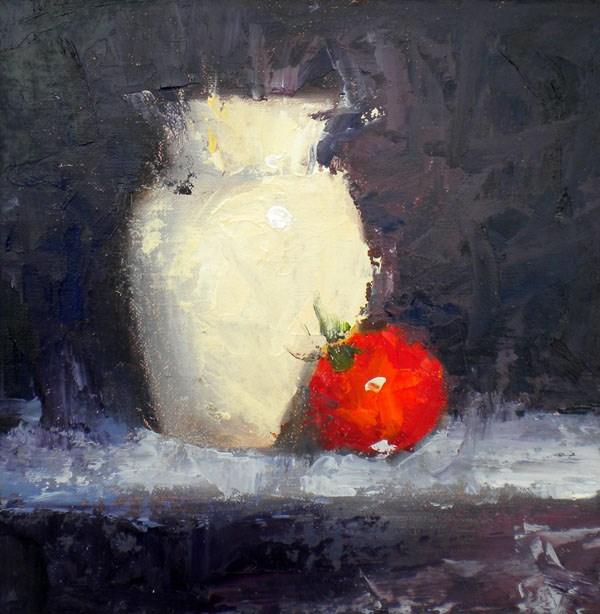 """""""Bashful"""" original fine art by Darla McDowell"""