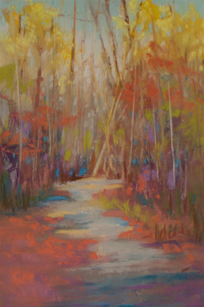 """Trail at Holly Lake"" original fine art by Judy Wilder Dalton"