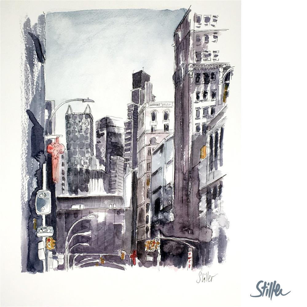 """3706 NYC Buildings"" original fine art by Dietmar Stiller"