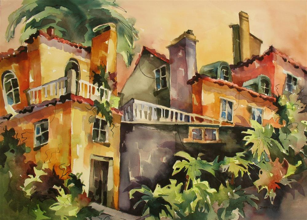 """Portuguese Rooftops"" original fine art by Jinnie May"
